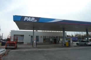 RECONSTRUCTION PETROL STATION PAP OIL